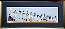 '97 Series of Lighthouses/gold frame